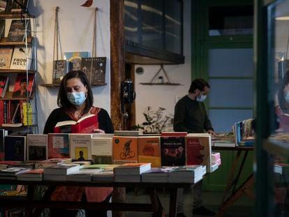 Interior de una librería de Barcelona, el pasado noviembre.
