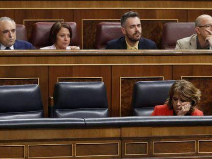 Dolores Delgado, el pasado miércoles, en la sesión de control del Gobierno.