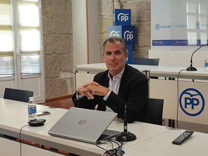 El presidente local y portavoz municipal del PP de Pontevedra, Rafael Domínguez.