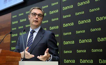 José Sevilla, consejero delegado de Bankia, en la presentación de los resultados del primer semestre.