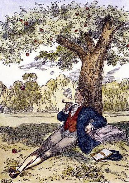 Aunque la anécdota de Newton bajo el manzano es una de las más bellas de la ciencia, no se ha encontrado ningún registro del científico afirmando tal experiencia.