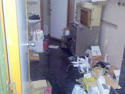 Una de las dependencias del hospital La Fe, en el barrio valenciano de Campanar.