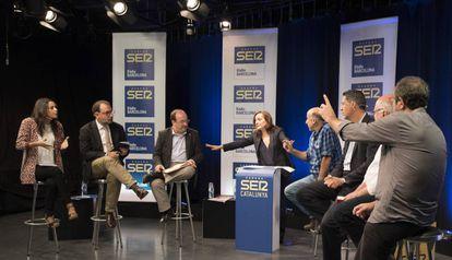 Un debate electoral en la SER en las últimas eleccines municipales.