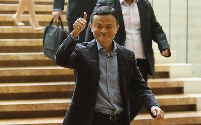 Jack Ma, fundador de Alibaba, tras reunirse con inversores