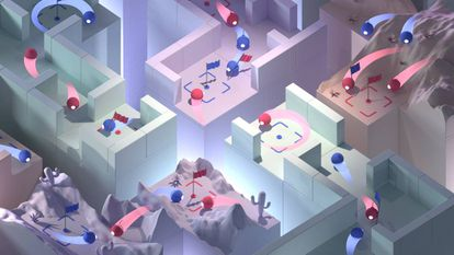 Varias recreaciones del juego que se usó para probar a los agentes artificiales.