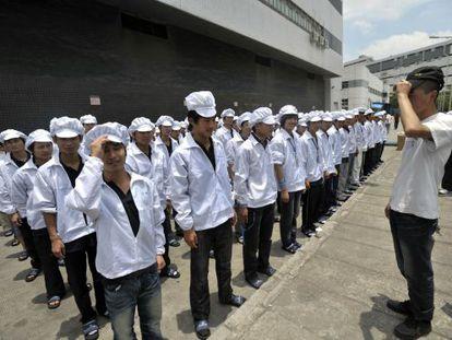 Trabajadores de Foxconn en China
