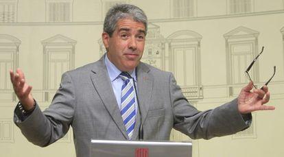 El conseller de la Presidencia y portavoz del Gobierno, Francesc Homs.