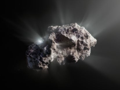 Una ilustración del aspecto del cometa 2I/Borisov.