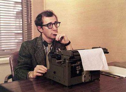 Woody Allen, en una escena de la película <i>La tapadera</i>, dirigida por Martin Ritt.