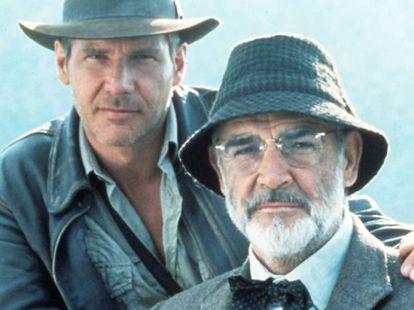 Harrinson Ford y Sean Connery, en la película 'Indiana Jones y la última cruzada' de Steven Spielberg.