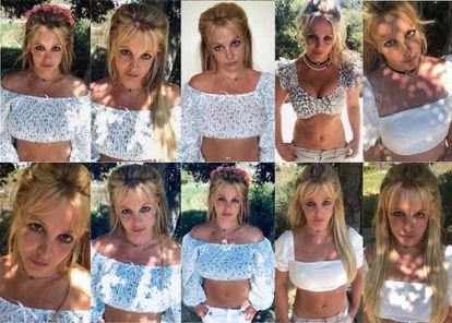 Las diferentes imágenes que Britney ha subido en diferentes días a su cuenta de Instagram, a menudo con la misma ropa, la misma pose y la misma localización, han preocupado a sus seguidores, que no dejan de hacerle preguntas que ella jamás responde.