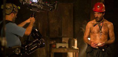 Antonio Banderas en el rodaje de 'Los 33'.