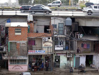 Vista general de la villa 31, en Buenos Aires, Argentina.
