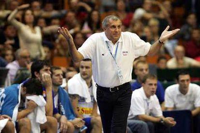 Obradovic, en un momento del partido ante Francia.