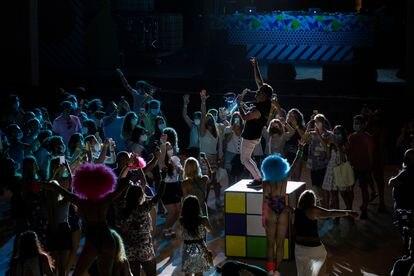 Actuación en la fiesta Hard Rock de Ibiza.
