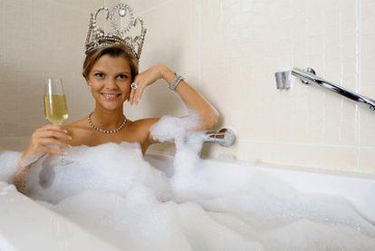 Una de las fotos promocionales de la miss tras su elección.