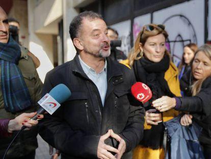 El exconsejero de Acción Exterior de la Generalitat, Alfred Bosch, el día de su dimisión