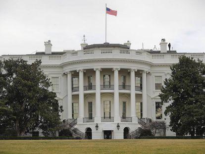 Imagen de la Casa Blanca el pasado mes de febrero.
