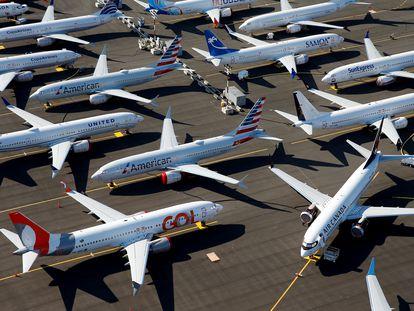 Un grupo de aviones, en Seattle (Estados Unidos).
