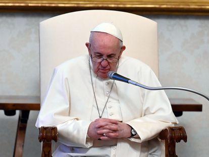 El papa Francisco, durante su audiencia semanal el pasado miércoles en el Vaticano.