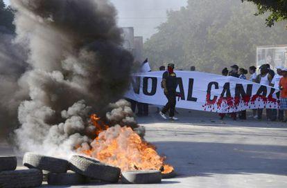 Protestas contra en Managua contra el canal interoceánico