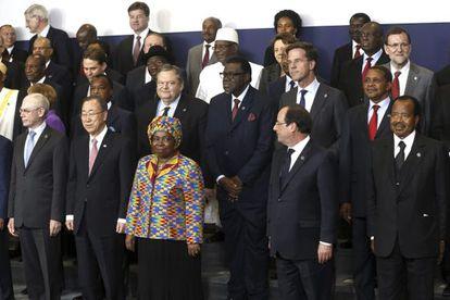Foto de familia de la IV Cumbre UE-África.