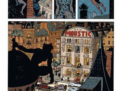 Viñeta de 'La mujer leopardo' (Dibbuks), de Yann y Schwartz.