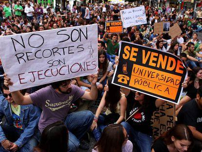 Manifestación estudiantil de 2013.