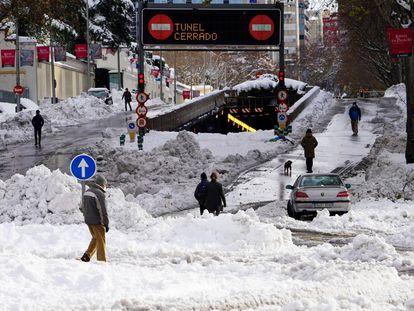 Los efectos del temporal 'Filomena' y la nieve que ha dejado, en imágenes