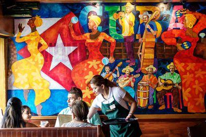 Restaurante en Little Havana, el barrio cubano de Miami.