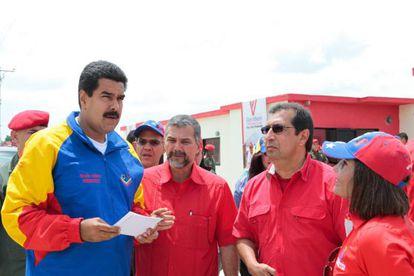 Nicolás Maduro durante el acto de entrega de viviendas en Barinas.