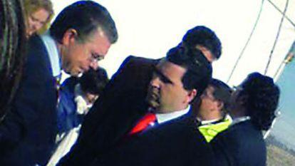 David Marjaliza (d) junto a Francisco Granados (i) en una foto de archivo.