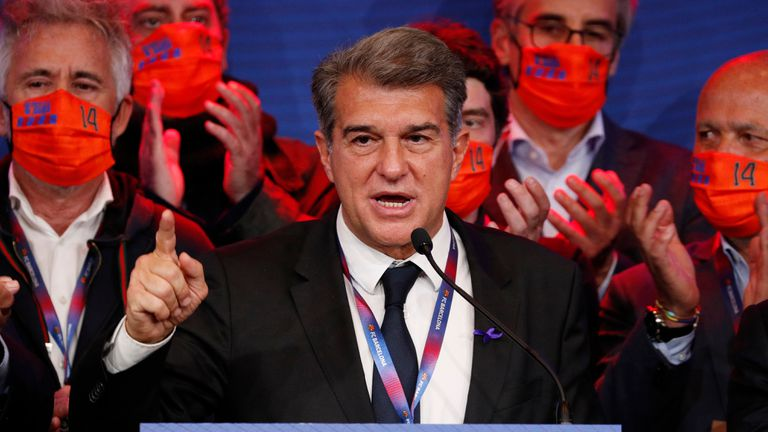 Laporta, after winning the Barcelona elections.