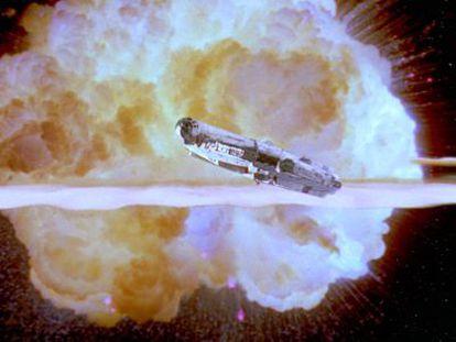 Imagen clave de 'El retorno del jedi': el estallido de la Estrella de la muerte.