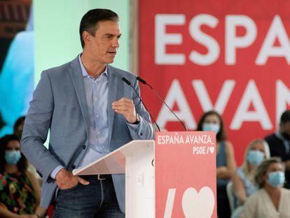 El presidente del Gobierno, Pedro Sánchez, durante un acto del PSOE en septiembre.