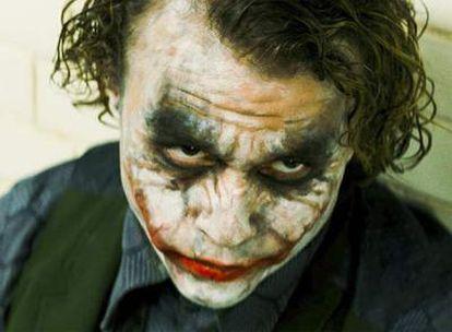 El desaparecido actor australiano Heath Ledger, caracterizado como el Joker en la última entrega cinematográfica de <i>Batman.</i>