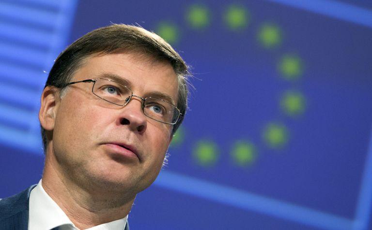 El vicepresidente de asuntos financieros de la Comisión Europea, Valdis Dombrovskis.