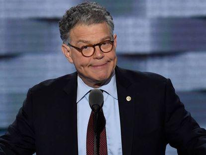 El senador demócrata Al Franken, en julio de 2016, durante la convención del partido en Filadelfia.