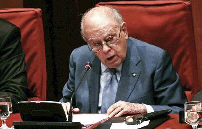 Pujol, en la comparecencia en el Parlament del 26 de septiembre.