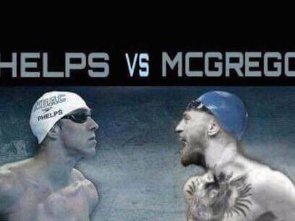 """""""¿Deberíamos competir también?"""", reta Phelps a McGregor en un tuit."""