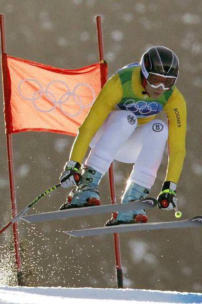 La esquiadora Maria Riesch, durante una prueba de los Juegos Olímpicos de Invierno que se están celebrando en Vancouver (Canadá).