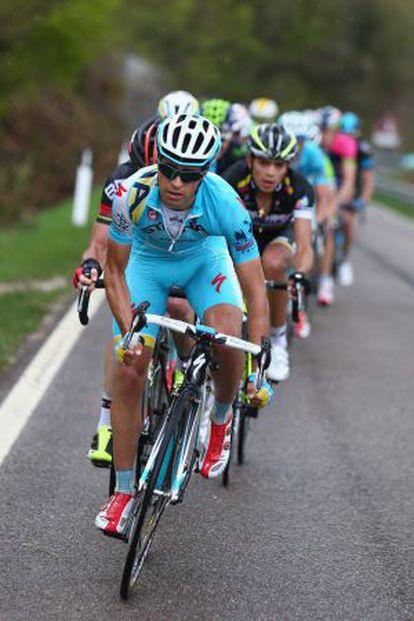 Mikel Landa en una etapa del Giro del Trentino en abril.