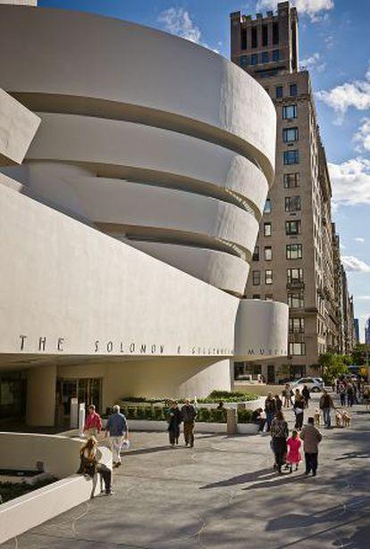 Perfil de la sede neoyorquina del Museo Guggenheim, proyectada hace medio siglo por Frank Lloyd Wright.