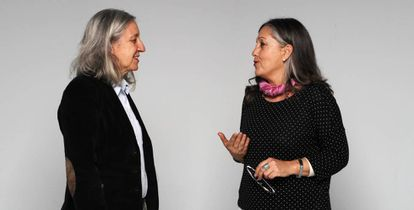 Mar López (i), presidenta de la Fundación Vivir un Buen Morir y María Agustina Martín, coordinadora de la misma en Madrid.