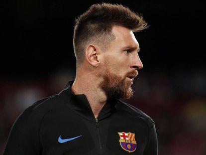 Leo Messi, en el partido contra el Eibar.
