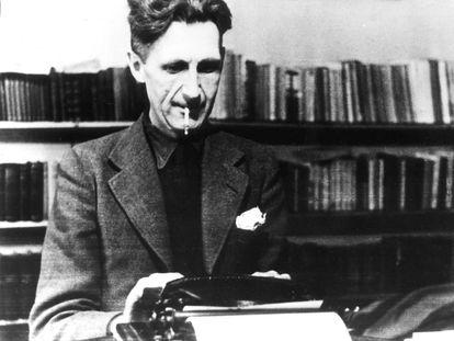 El escritor George Orwell.