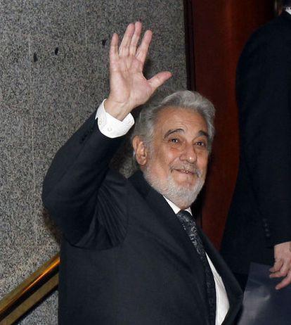 El tenor Plácido Domingo, presidente de la Federación Internacional de la Industria Discográfica.
