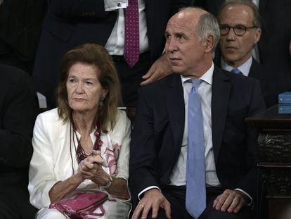 Los jueces de la Corte Suprema de Argentina Elena Highton de Nolasco y Ricardo Lorenzetti.