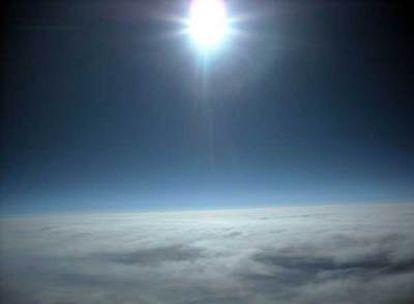 Una de las imágenes tomadas desde el globo