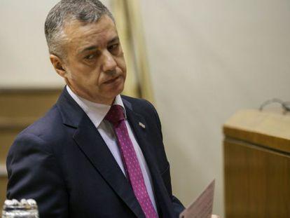 El lehendakari, Iñigo Urkullu, en el Parlamento vasco.